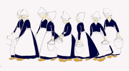 eight maids a milking.