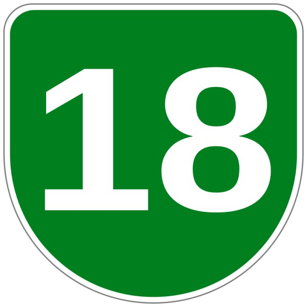 Number 18 Clipart.