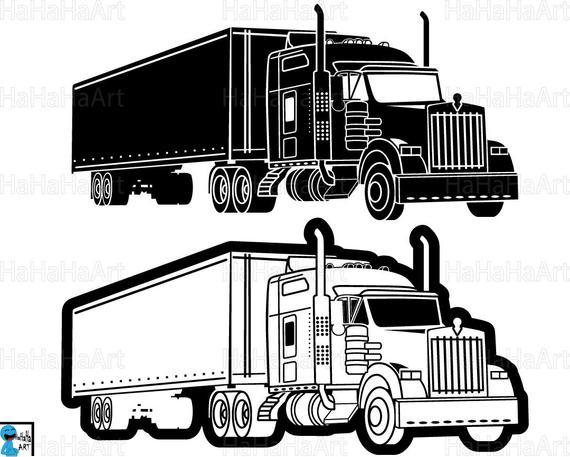 Truck 18 Wheeler Monogram.