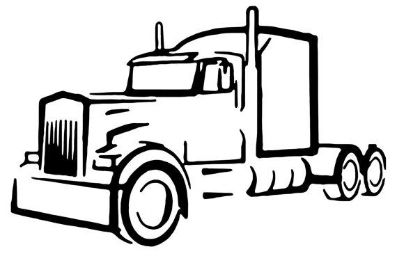 18 Wheeler Truck Silhouette.
