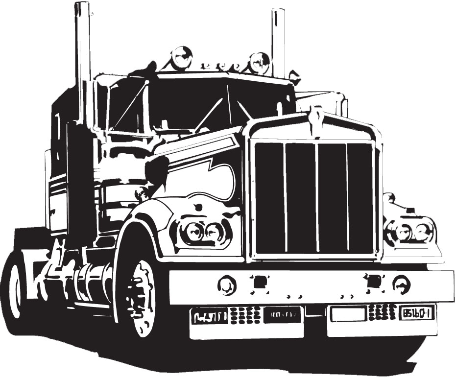 18 Wheeler Vector at GetDrawings.com.