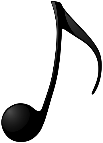 Eighth note vector clip art.
