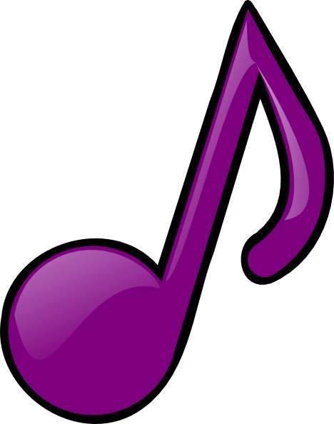 Purple Eighth Note Clip Art at Clker.com.