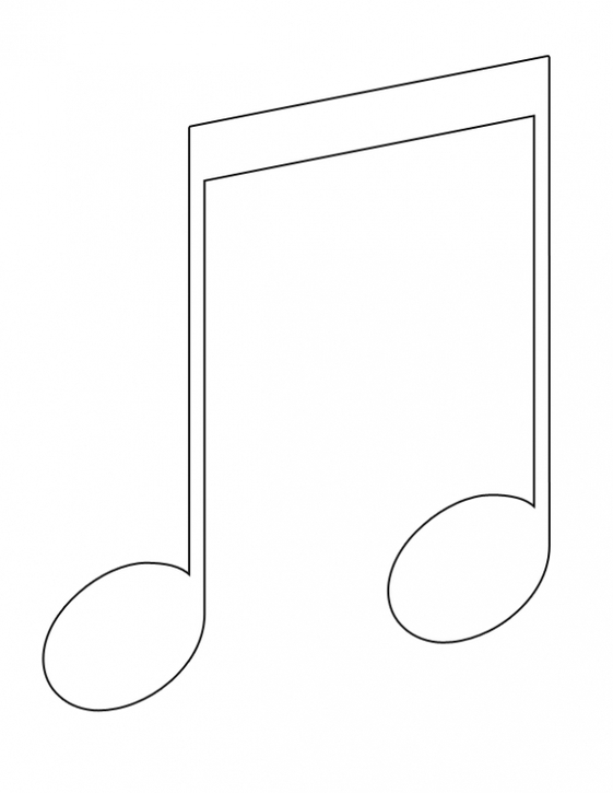 Eighth Clipart Clipground Quarter Note Coloring Page