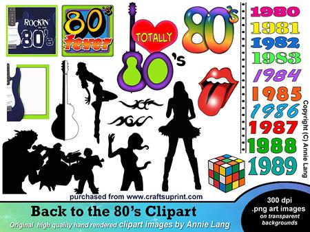 80s Clipart.