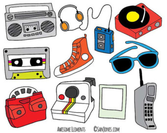 80s Fashion Clipart.