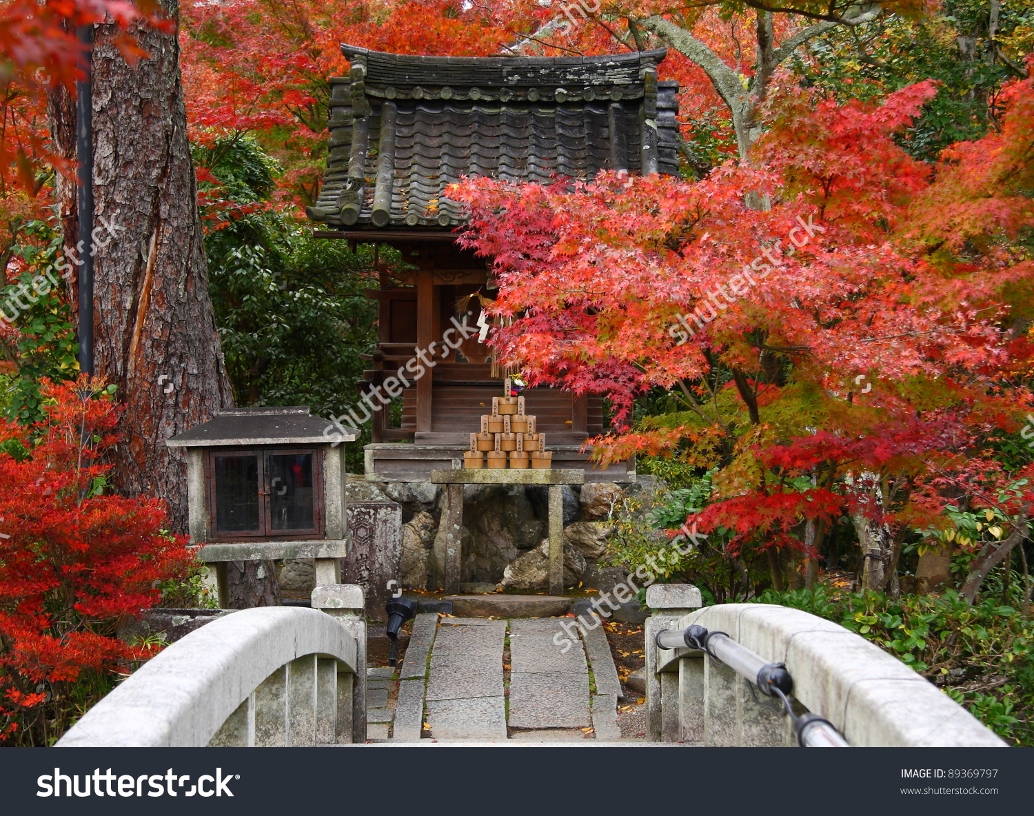 Japanese Temple In Autumn (Eikan.
