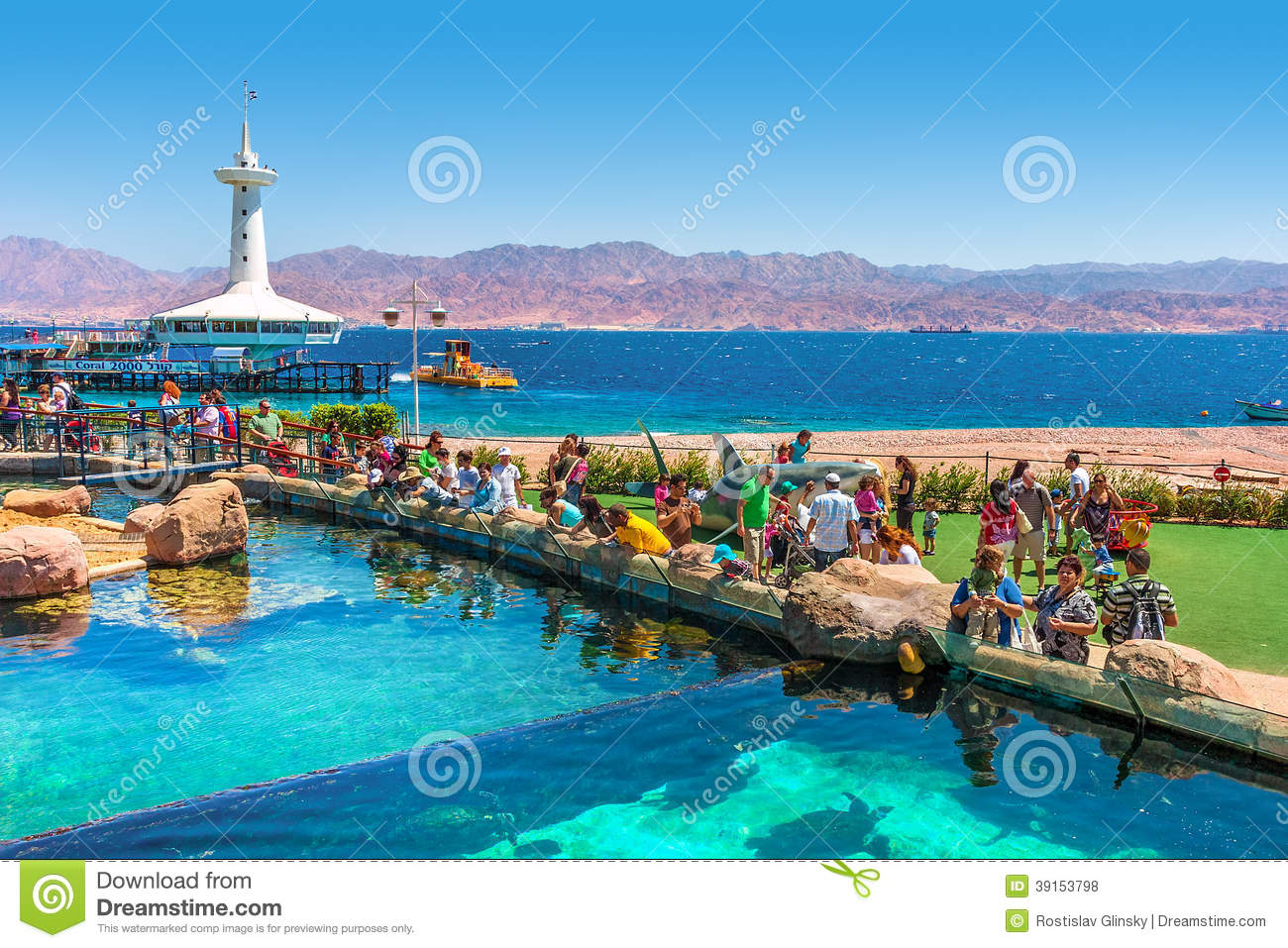 Eilat Ice Park And Mall In Eilat Israel Editorial Image.