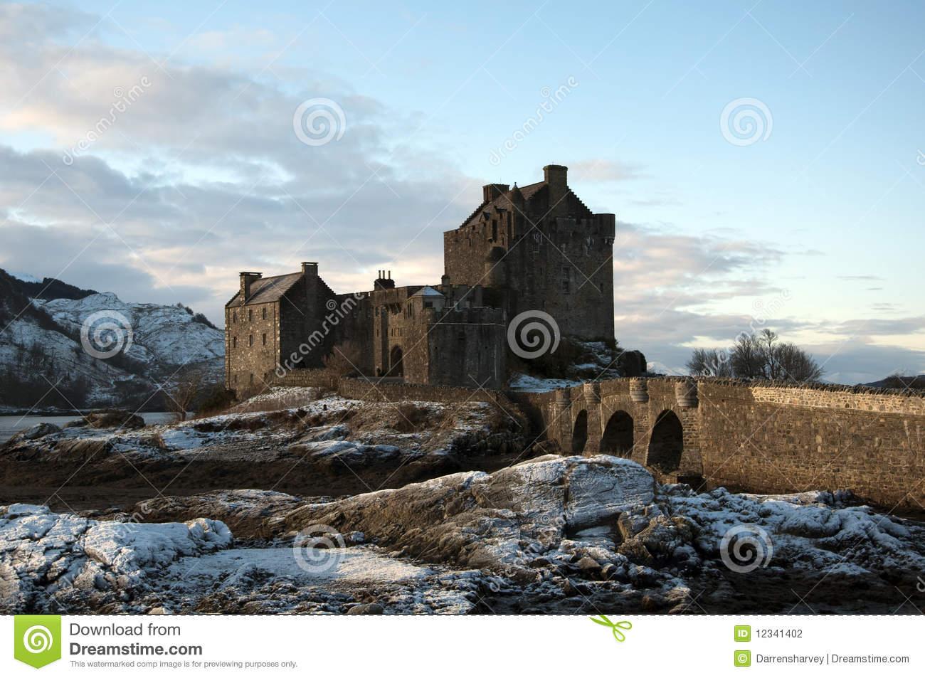 Winter At Eilean Donan Castle Stock Photography.
