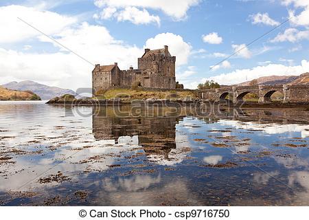 Stock Photography of Eilean Donan Castle, Highland Scotland.