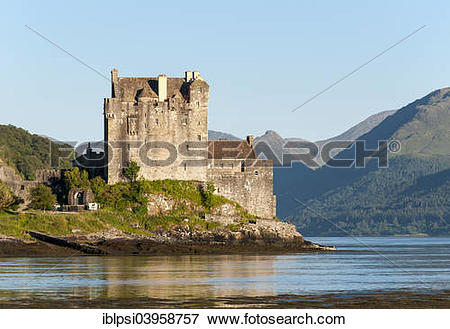 """Picture of """"Eilean Donan Castle at the meeting point of Loch Duich."""