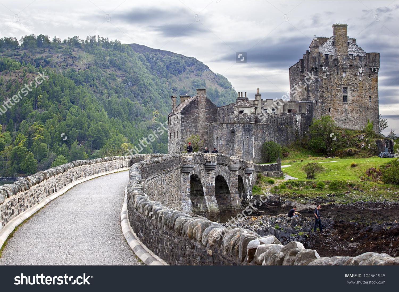 Eilean Donan Castle Scottish Castle Stock Photo 104561948.