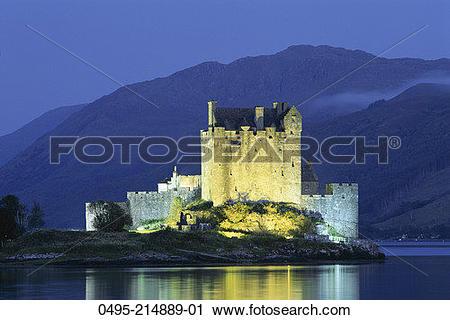 Stock Photography of Scotland, Loch Duich, Eilean Donan Castle.