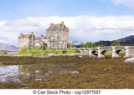 Stock Images of Eilean Donan Castle, Loch Duich, Scotland.