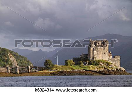 Stock Photo of Eilean Donan Castle, Scotland k6324314.