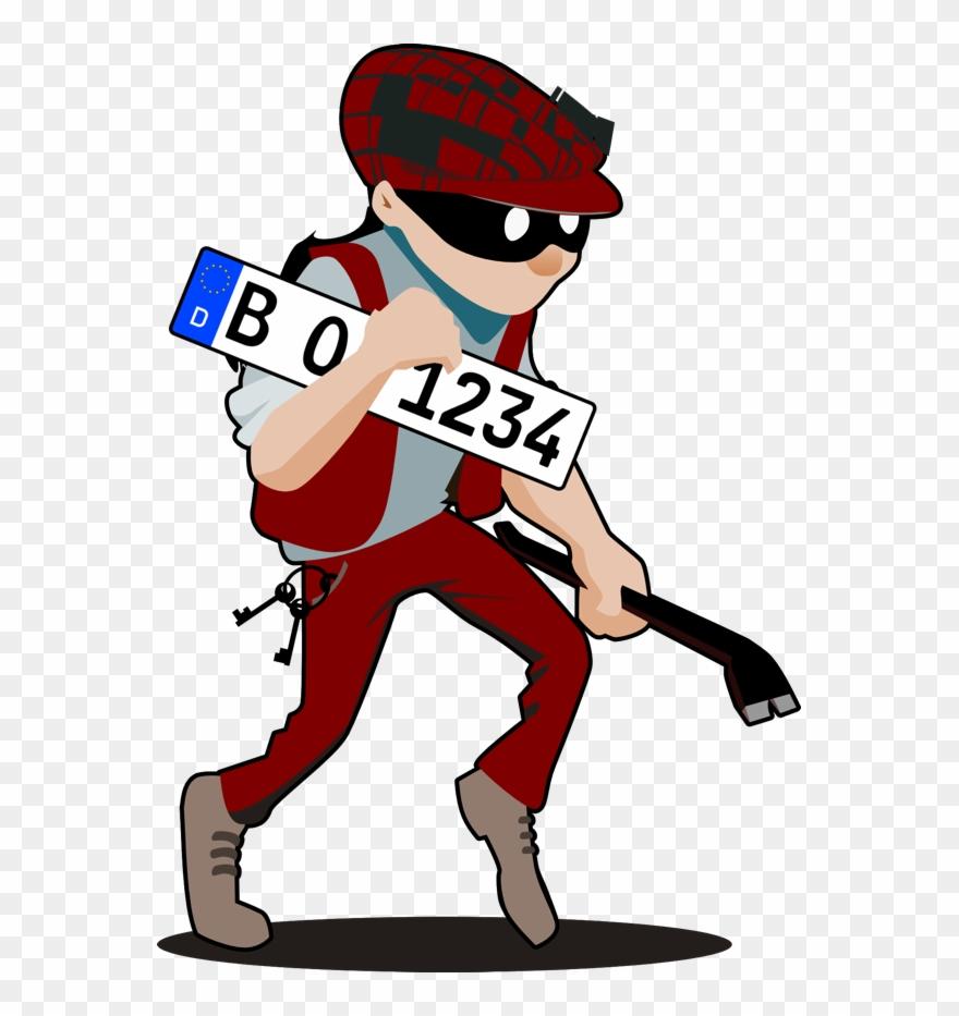 Ein Einbrecher Hat Ihr Kennzeichen Gestohlen.