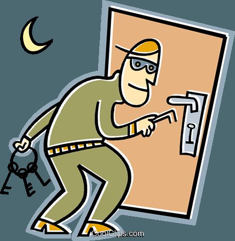 burglar Royalty Free Vector Clip Art illustration.