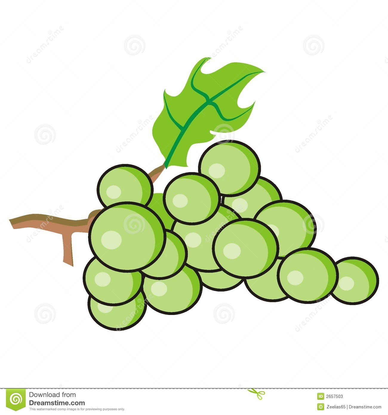 Green grape clipart.