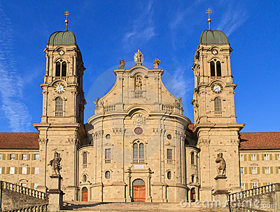 Benedictine Abbey Of Einsiedeln, Switzerland Royalty Free Stock.