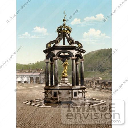 Picture of The Lady Fountain at Einsiedeln Abbey in Switzerland.