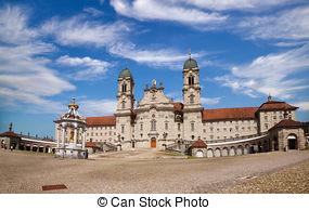 Stock Photo of Benedictine Abbey of Einsiedeln, Switzerland.