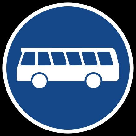 Busfahrstreifen.