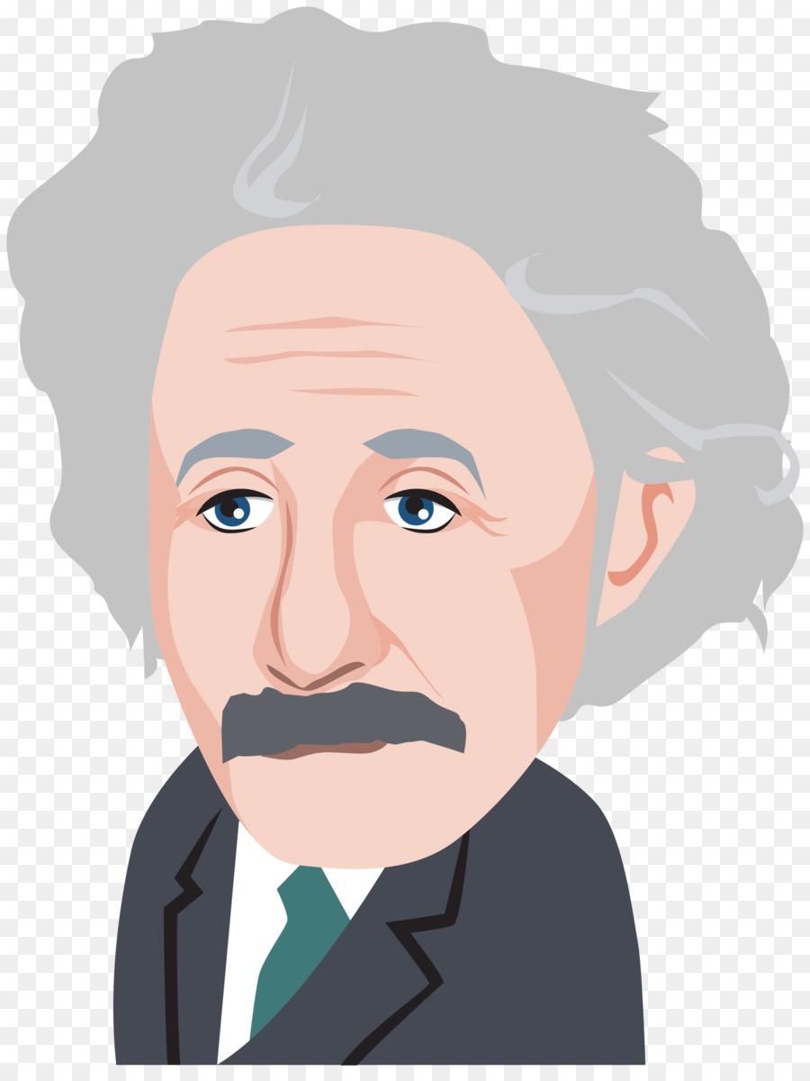 Albert Einstein Cartoon clipart.