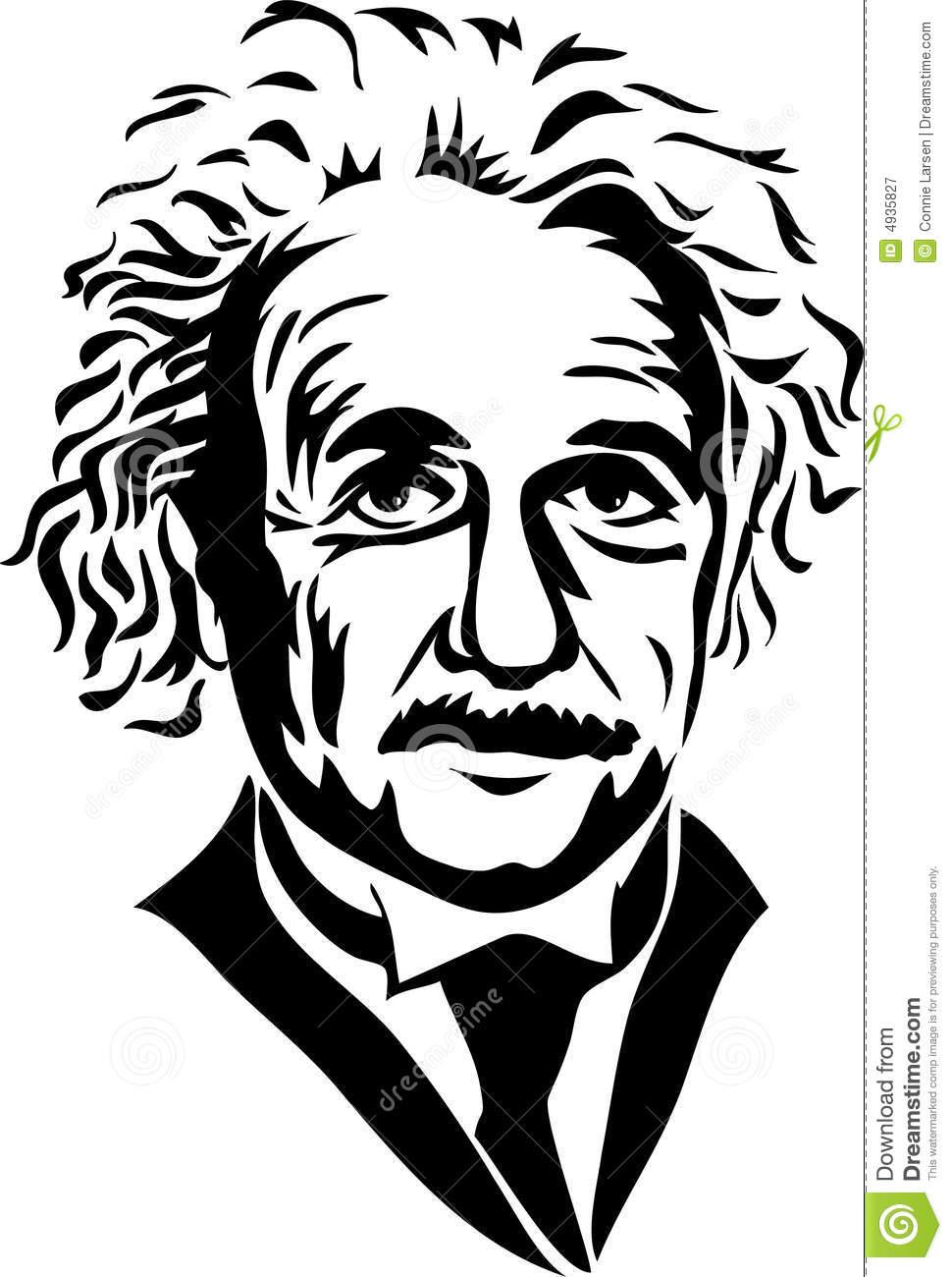 Einstein Clip Art Black and White.