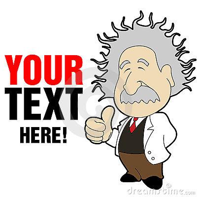 Einstein Cartoon Image.