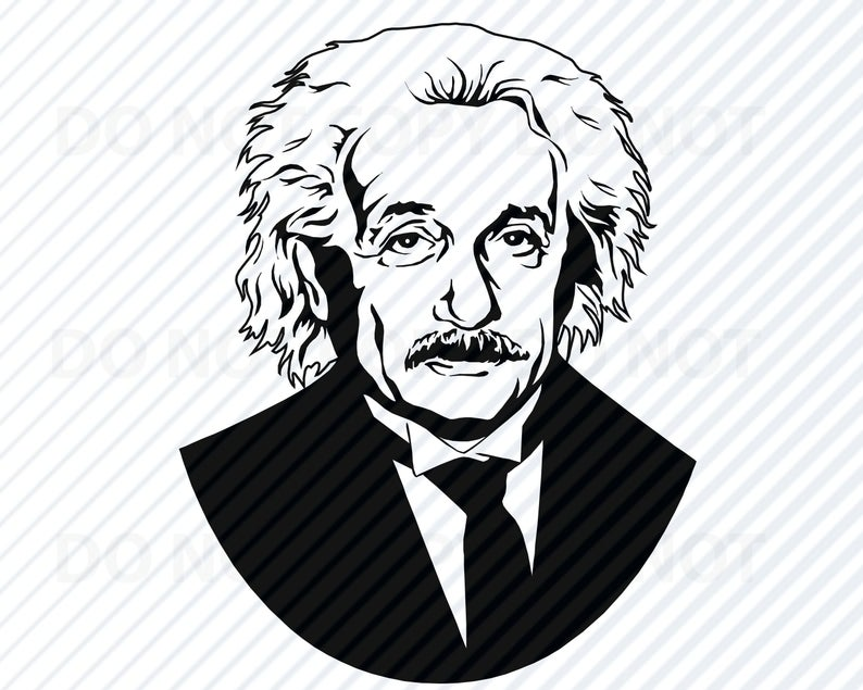 Download for free 10 PNG Einstein clipart silhouette Images With.