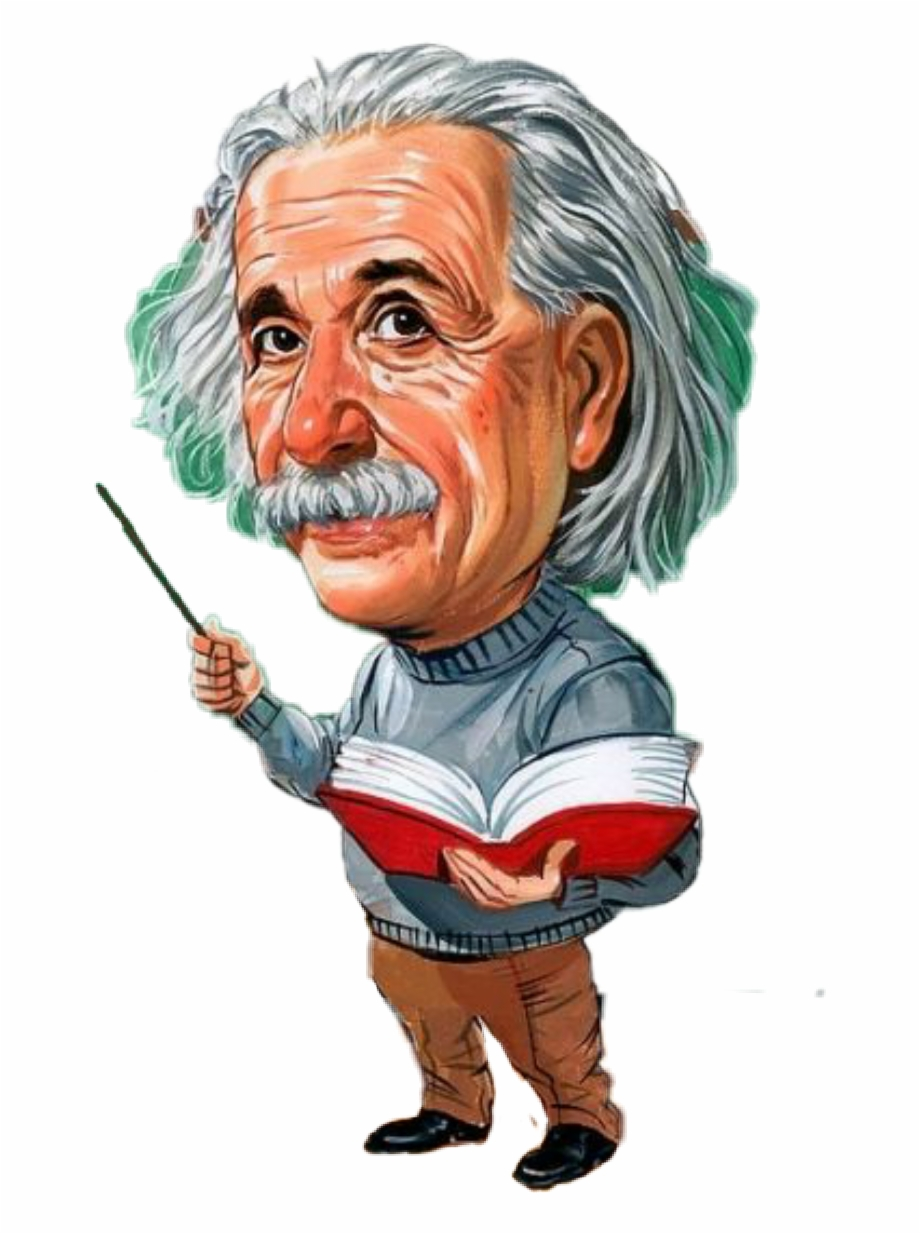 Albert Einstein Cartoon Png, Transparent Png Download For Free.