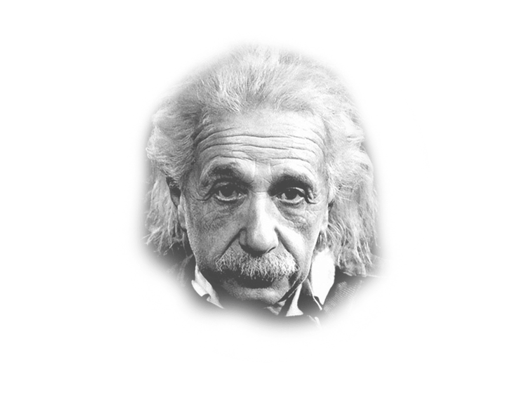 Albert Einstein Looking transparent PNG.