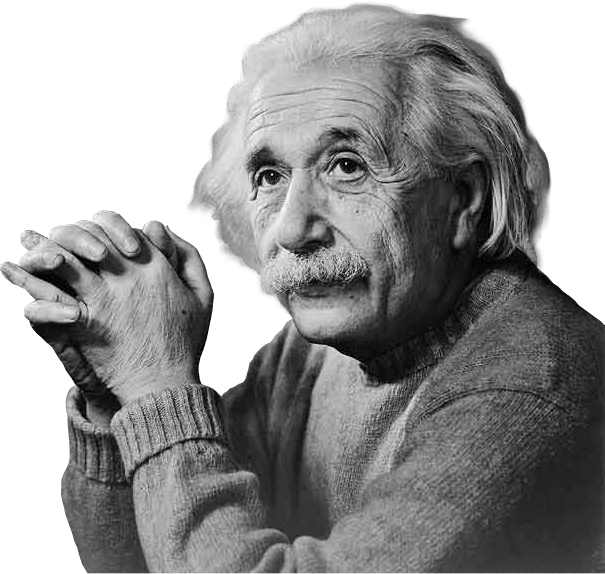 Albert Einstein Thinking transparent PNG.