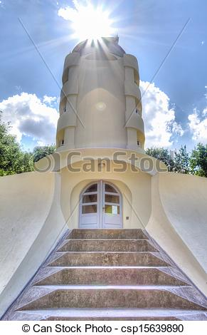 Stock Photographs of The Einstein tower in Potsdam at the science.
