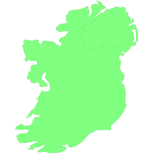 Map Of Ireland Vector Drawing.
