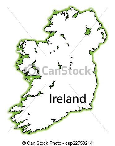 Vector Clip Art of Ireland.