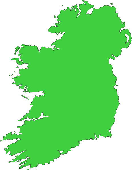 Clipart ireland map.