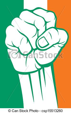Clip Art Vector of ireland fist csp15513260.
