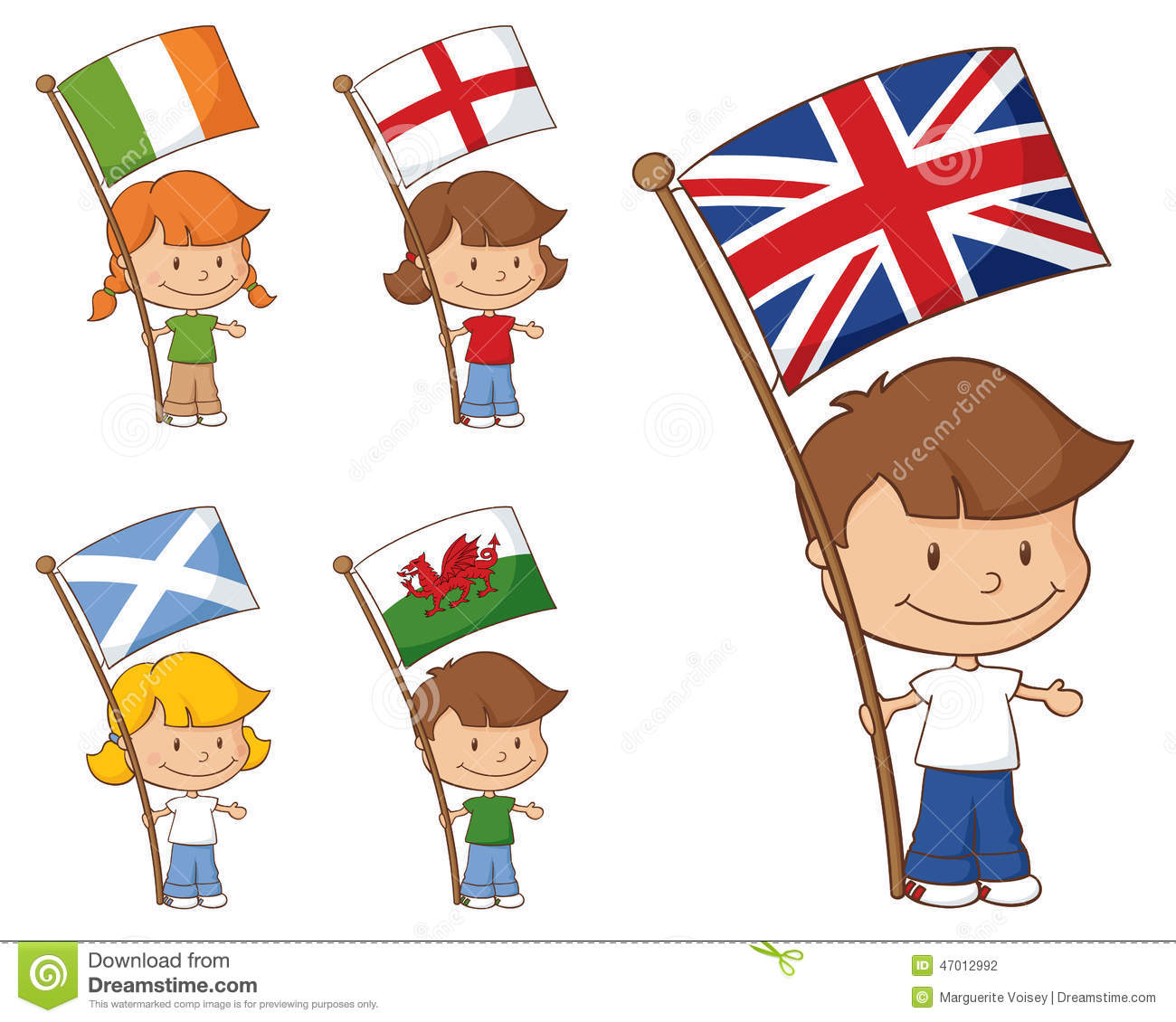 UK And Eire Flags Stock Vector.