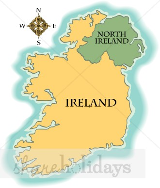 Ireland Map Clipart.