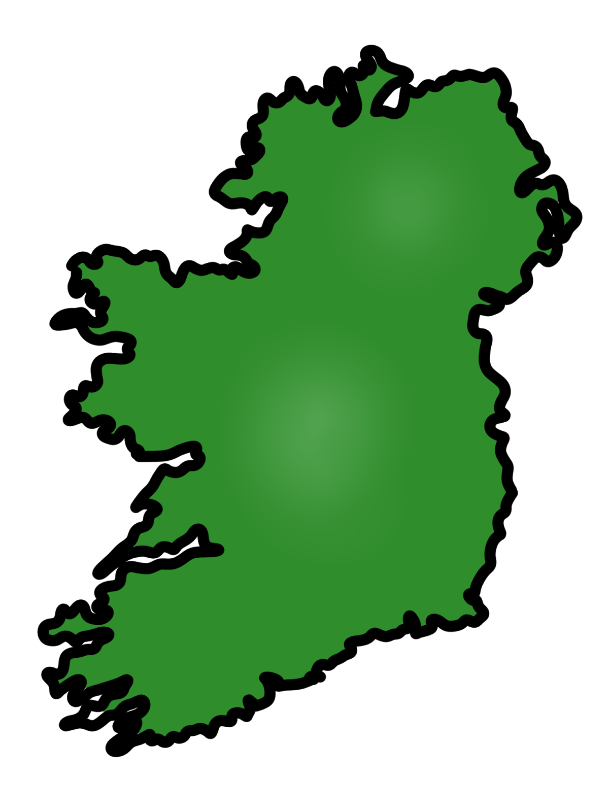 Simple Map Of Ireland.