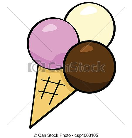 Clipart Vector of Cartoon ice cream.