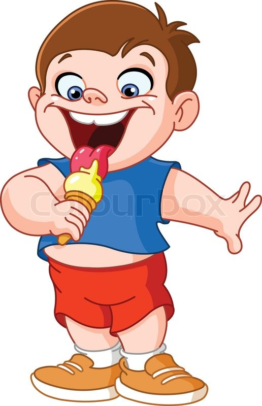 Clip Art Girl Eating Ice Cream Clipart.