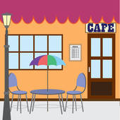 Sidewalk Cafe Clip Art.