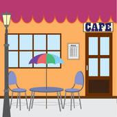 Sidewalk Cafe Clip Art.