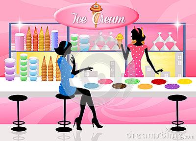 Ice Cream Shop Stock Photography.