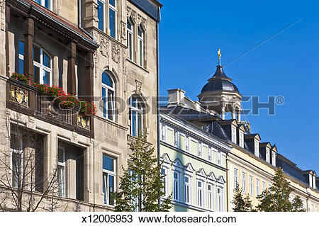 Stock Photo of Houses at the market place in Eisenach, Thuringia.