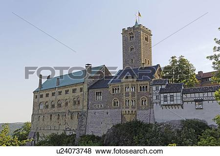 "Stock Illustration of ""Wartburg Castle, Eisenach, German."