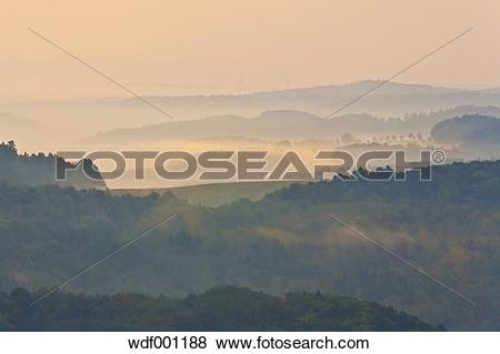 Pictures of Germany, Thuringia, Eisenach, View of Thuringian.