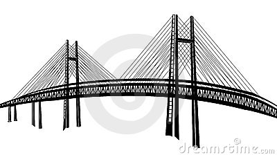 Rail Bridge Stock Illustrations.